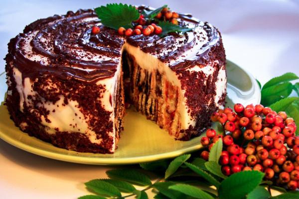 Трухлявый пень торт с курагой